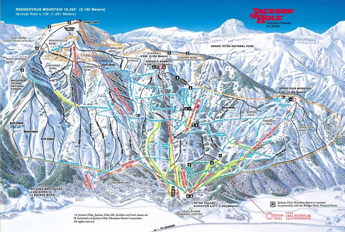Apres vous mountain at the jackson hole ski resort in teton village